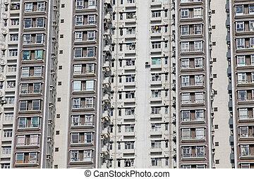 Packed Hong Kong housing apartments
