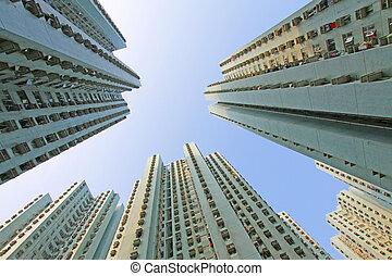 Packed Hong Kong housing