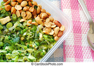 Packed meal with mixture of vegetables