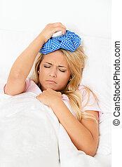 packen eis, kopfschmerzen