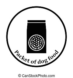 Packet of dog food icon