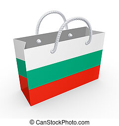 Packet with flag of Bulgaria.