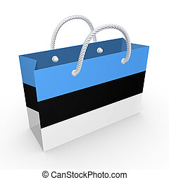 Packet with flag of Estonia.