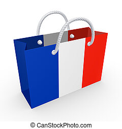 Packet with flag of France.