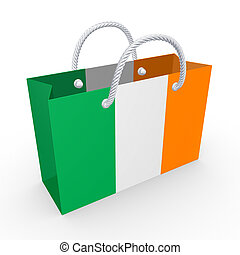 Packet with flag of Ireland.