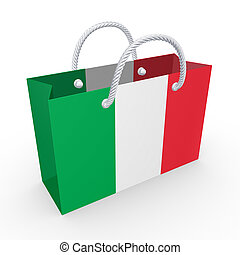 Packet with flag of Italy.