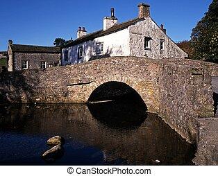 packhorse, malham, puente, england.