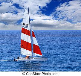 packi, łódka, nawigacja, ocean