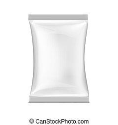 packing., blanco, vector, ilustración