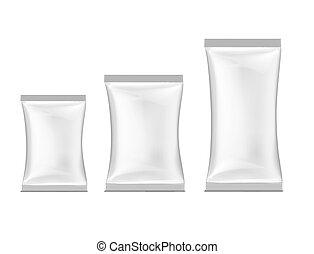 packing., branca, vetorial, ilustração