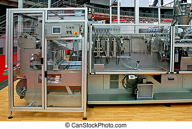 Packing line - Automated packaging process line with two...
