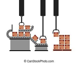 packing machine design, vector illustration eps10 graphic