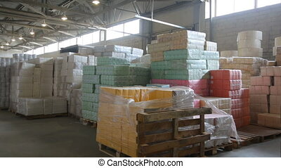 Packing of paper at paper manufacturing factory