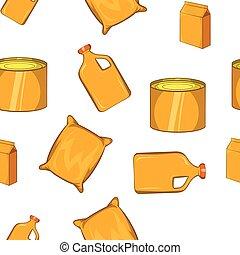 Packing pattern, cartoon style