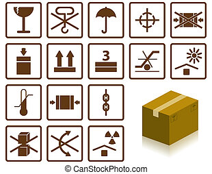 Packing symbols - packing symbols and box
