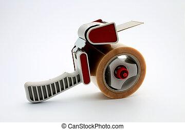 Packing tape dispenser - Isolated packing tape dispenser