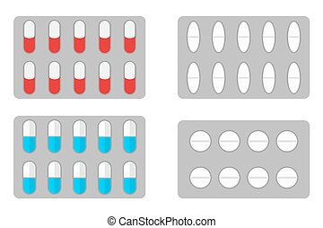 Packs of pills