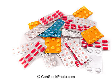 packs of pills - packs of medical pills and tablets