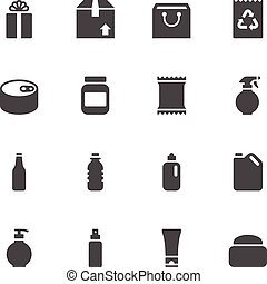 pacote, ícones