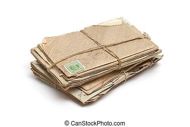 pacote, antigas, letras