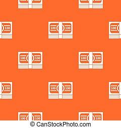 pacote, de, dinheiro, padrão, seamless