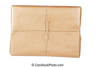 pacote marrom