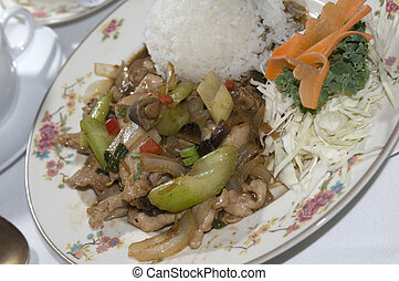 pad khing thai food