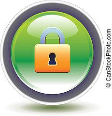 Pad lock 3D icon