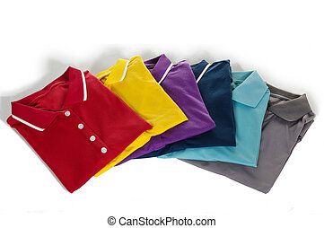 polo shirt - pad of polo shirt with white background