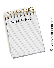 """Pad with """"Things To Do"""" at the top"""
