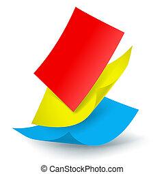 padając papier, listki