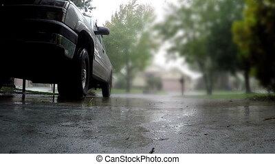 padając, podjazd
