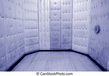 Empty padded cell. Concept photo of psychiatric hospital, mental hospitals ,psychiatric wards and mental disorders.