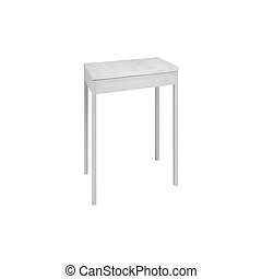 padded stool, isolated on a white background