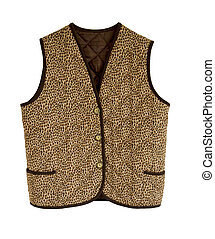 Padded waistcoat with buttons - An animalier padded jacket...