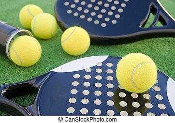paddel, tennis, gegenstände