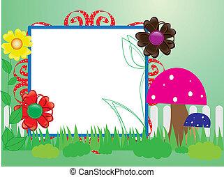 paddestoelen, baby, bloemen, omheining, scrapbook(10)