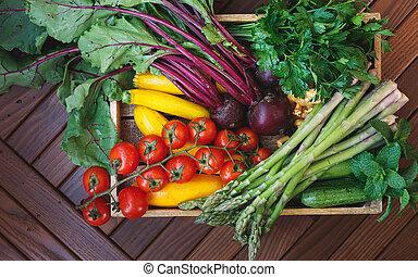 paddestoelen, bio, groente, fris, oogsten