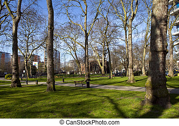 Paddington Green and Church of St. Mary in London -...