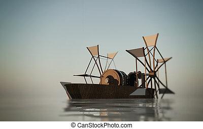 paddle boat - Leonardo Da Vinci paddle boat