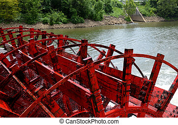 Paddle boat wheel on Tennessee Rive