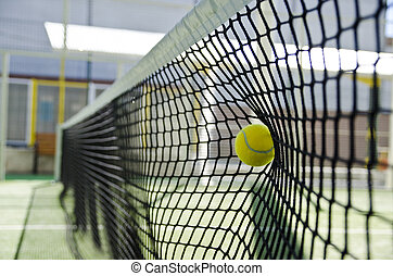 Paddle fail. Bad shot hits net