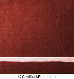 Paddle red badminton court texture with white line can used ...
