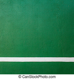 Paddle tennis green hard court texture with white line can...