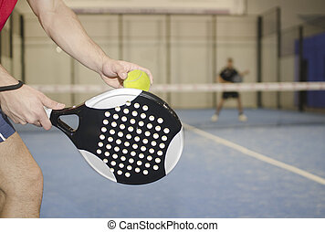 Paddle tennis training - Paddle tennis player ready for...
