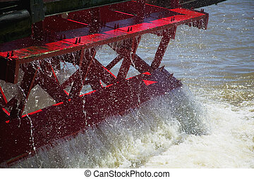 Paddle Wheel from the Steamboat Natchez in New Orleans,...