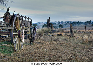 paddock and old cart