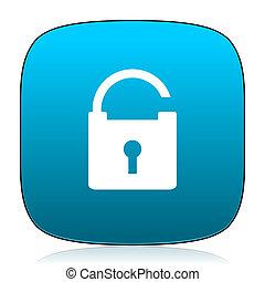 padlock blue icon