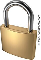Padlock - RGB vector illustration - created with gradient...