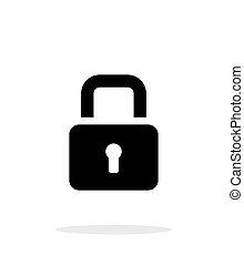 Padlock close icon on white background.